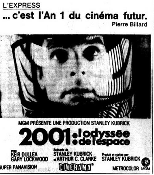 Pavé 2001 ODYSSEE DE L'ESPACE en CINERAMA
