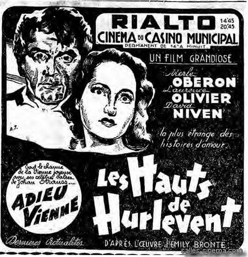 LES HAUTS DE HURLEVENT, le 22/12/39 en tandem avec le CASINO MUNICIPAL