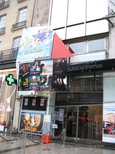 Cinéma Publicis à Paris: façade d'un des plus beaux cinémas de Paris.