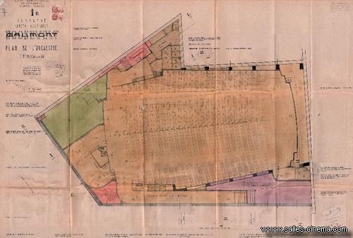 Plan d'origine du cinéma Gaumont Ambassade à Paris