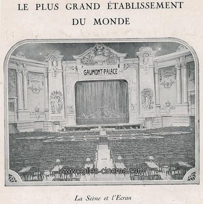 Cinéma Gaumont Palace à Paris: la scène et l'écran.