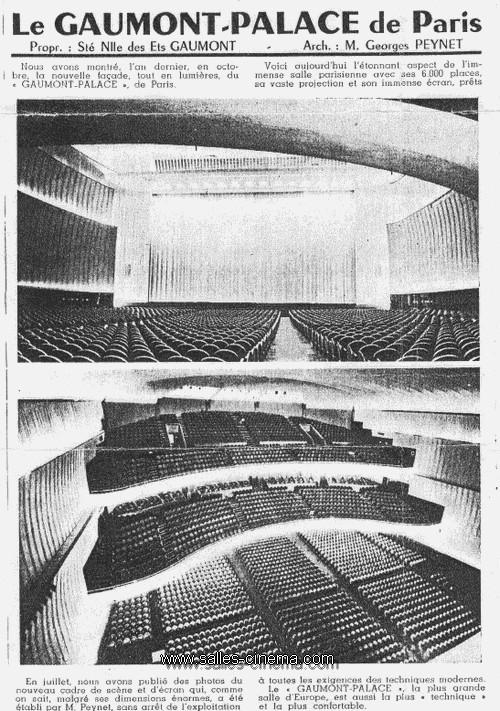 j 39 ai connu le gaumont palace de paris salles cinema com. Black Bedroom Furniture Sets. Home Design Ideas