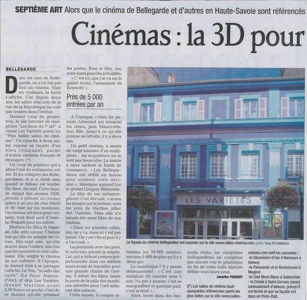 Le Dauphiné: Les salles de cinéma.
