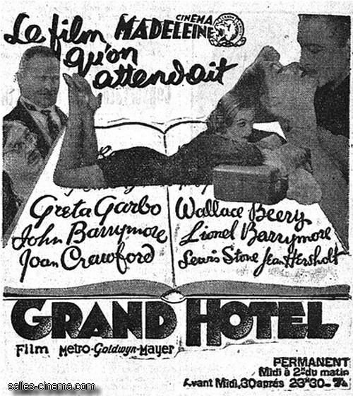 Grand Hotel d'Edmund Goulding