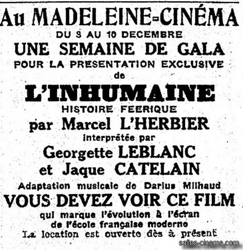 L'Inhumaine de Marcel L'Herbier