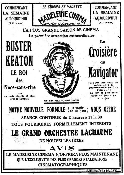 La Croisière du Navigator (The Navigator) de Buster Keaton et Donald Crisp