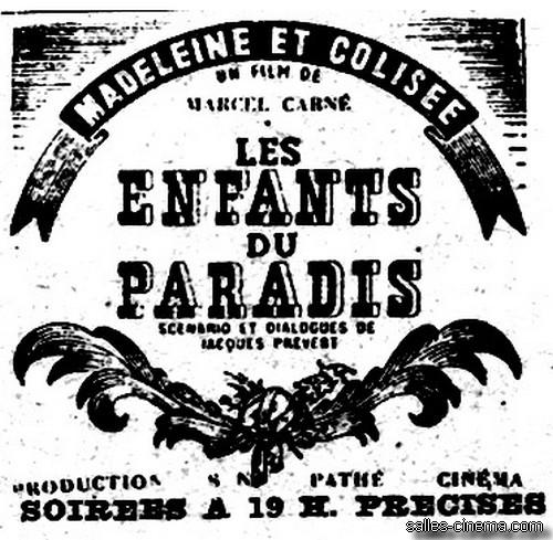 Les Enfants du Paradis de Marcel Carné