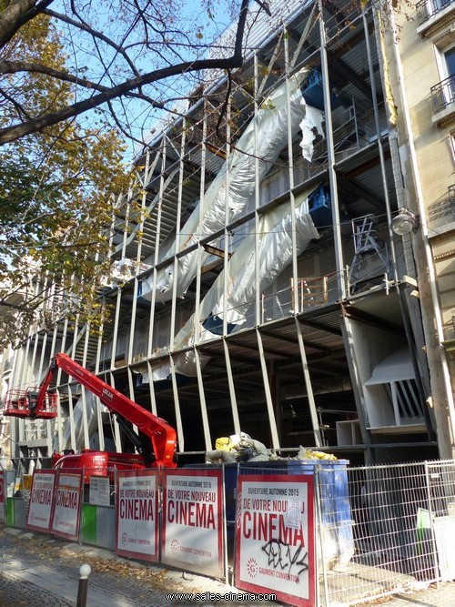 Travaux du Gaumont Convention à Paris