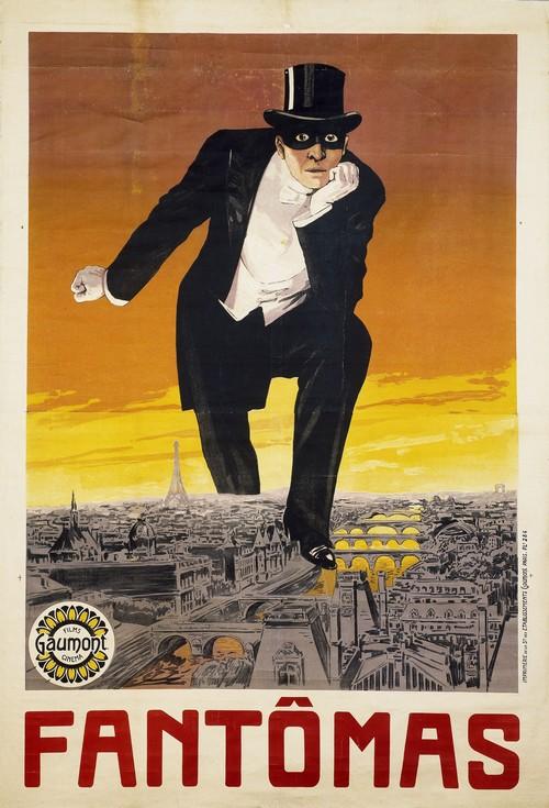 Affiche Fantomas, un film de Louis Feuillade