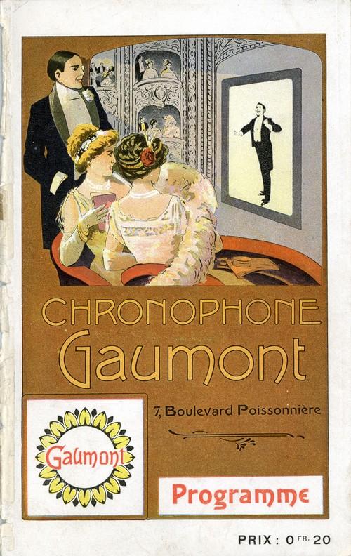 Couverture du programme Chronophone Gaumont. Collections du musée Gaumont