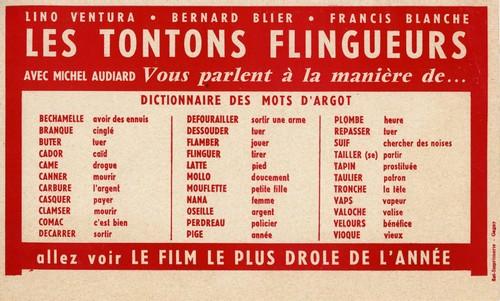 L'argot des Tontons flingueurs, un film de Georges Lautner. Collections du musée Gaumont.