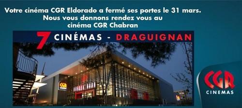 Fermeture du cinéma Eldorado de Draguignan