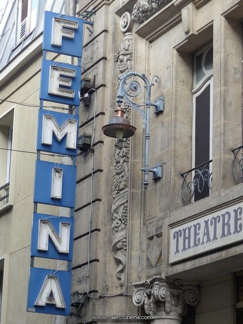 Enseigne de l'ancien cinéma Fémina à Bordeaux (aujourd'hui théâtre Fémina)