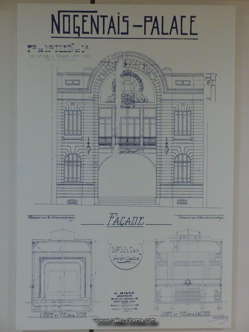 Dessin de la façade du Nogent-Palace