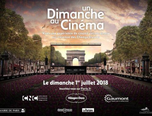 Un cinéma éphémère sur les Champs-Elysées.