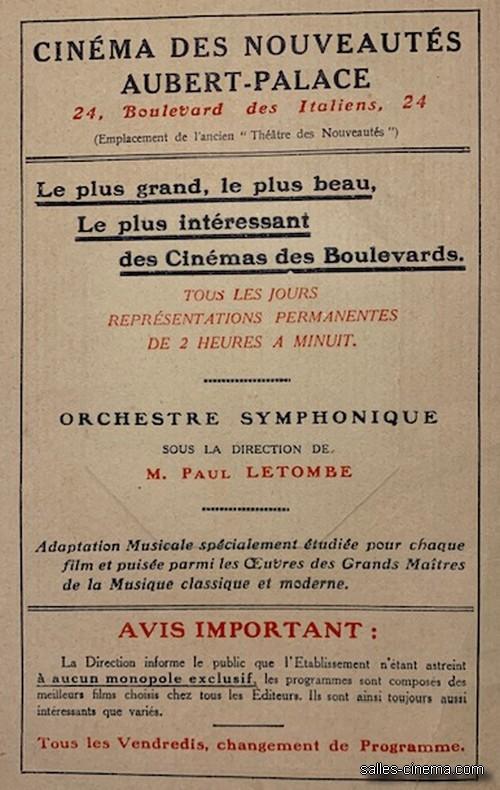 Cinéma Aubert-Palace à Paris