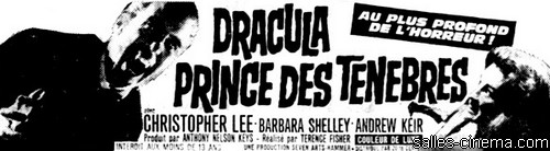 Dracula, prince des ténèbres de Terence Fisher