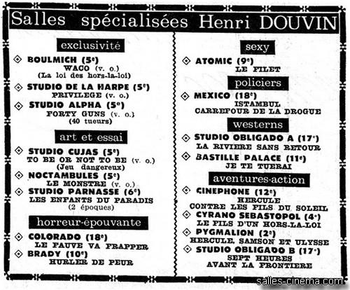 Les cinémas Henri Douvin