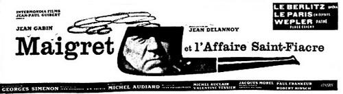 Maigret l'affaire Saint-Fiacre de Jean Delannoy