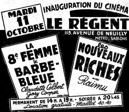 Cinéma le Régent à Neuilly-sur-Seine