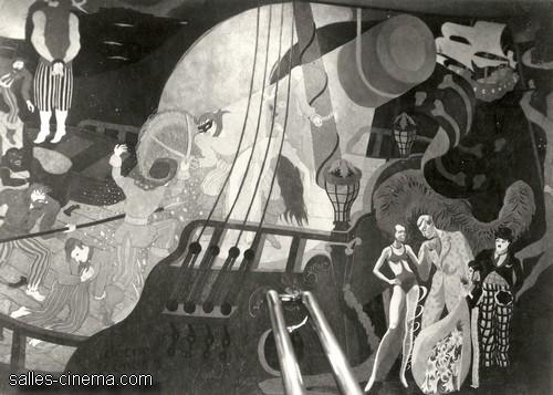 Fresques Henri Mahé du cinéma Rex
