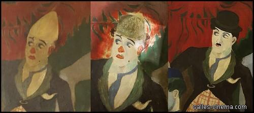 Ci-dessus: les travaux de rénovation des fresques murales d'Henri Mahé dans les escaliers du Rex.