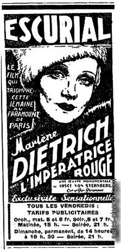 L'Impératrice rouge avec Marlene Dietrich