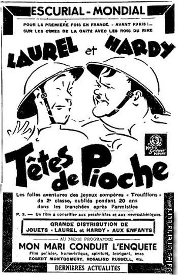 Têtes de Pioche avec Laurel & Hardy