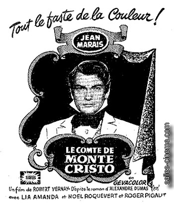 Le Comte de Monte-Cristo avec Jean Marais